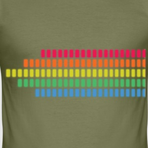 Regenbogen LED Pegel - Männer Slim Fit T-Shirt