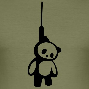 Hanged dead Panda Bear T-Shirts - Männer Slim Fit T-Shirt