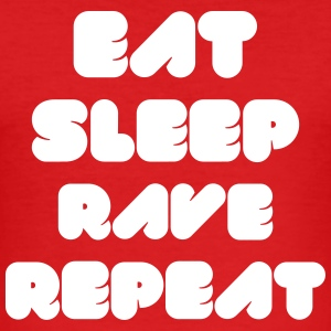 EAT SLEEP RAVE REPEAT T-Shirts - Men's Slim Fit T-Shirt