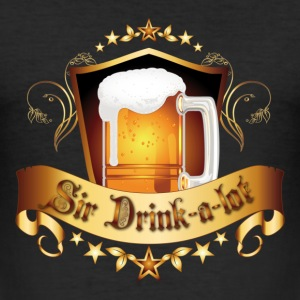 Sir Drink-a-lot - Männer Slim Fit T-Shirt