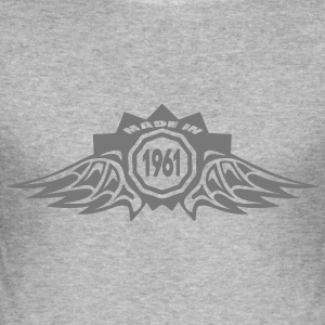 1961 annee made in logo anniversaire Tee shirts - Tee shirt près du corps Homme