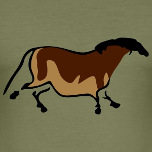 Neolithic Horse T-Shirts - Men's Slim Fit T-Shirt