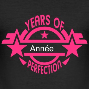 addieren Jahr  2 years perfection logo T-Shirts - Männer Slim Fit T-Shirt