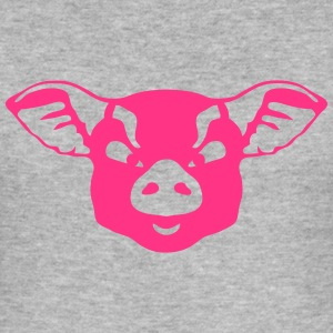 wildes Tier heftig Schwein 1202 T-Shirts - Männer Slim Fit T-Shirt