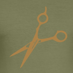 frisör sax / barber scissors (1c) T-shirts - Slim Fit T-shirt herr