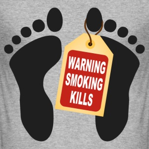 warning smoking kills T-Shirts - Men's Slim Fit T-Shirt