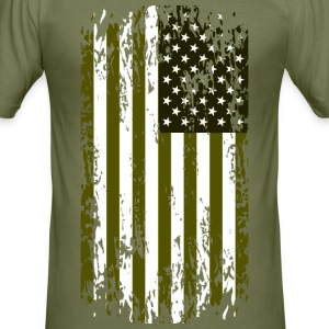 United States grunge flag Tee shirts - Tee shirt près du corps Homme