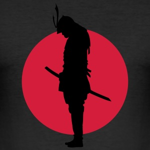 Japan Samurai Warrior (Japan flag) T-Shirts - Männer Slim Fit T-Shirt