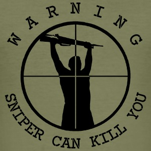 can_kill_you_sniper_vec_2de T-Shirts - Männer Slim Fit T-Shirt