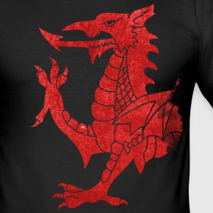 Welsh Dragon Rampant T-Shirts - Men's Slim Fit T-Shirt