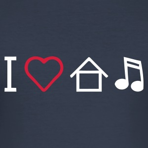I love House music - Männer Slim Fit T-Shirt