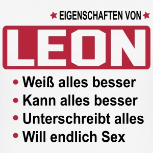 leon T-Shirts - Männer Slim Fit T-Shirt
