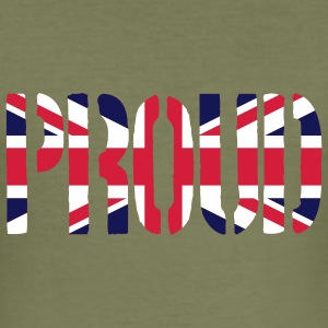 PROUD Britain Flag, British Flag, Union Jack, UK F - Men's Slim Fit T-Shirt