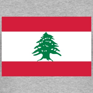 Flag Lebanon (3c) T-shirts - Slim Fit T-shirt herr
