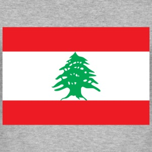 Flag Lebanon (dd) T-Shirts - Männer Slim Fit T-Shirt