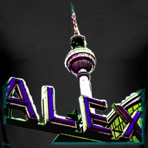 Alex Blau T-Shirts - Männer Slim Fit T-Shirt