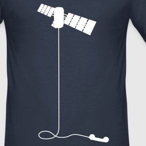 Satellitentelefon - Männer Slim Fit T-Shirt