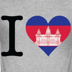 I Love Cambodia (dd) T-Shirts - Männer Slim Fit T-Shirt