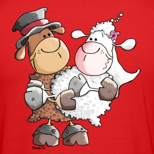 Woolly bride and groom T-Shirts - Men's Slim Fit T-Shirt