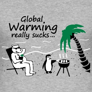Global Warming really sucks! - slim fit - Männer Slim Fit T-Shirt