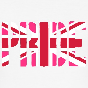 Gay Pride Britain Flag, Pink British Flag, Pink Un - Men's Slim Fit T-Shirt