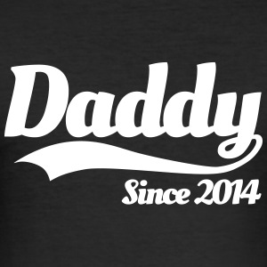 Daddy Since 2014 T-Shirts - Men's Slim Fit T-Shirt