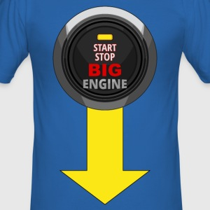 start stop engine 02 Tee shirts - Tee shirt près du corps Homme