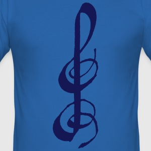 Clef T-Shirts - Men's Slim Fit T-Shirt