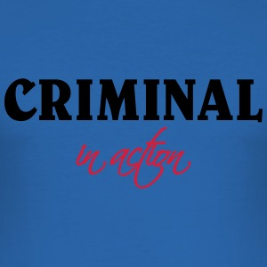Criminal in action Camisetas - Camiseta ajustada hombre