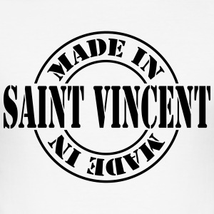 made_in_saint_vincent_m1 T-Shirts - Men's Slim Fit T-Shirt