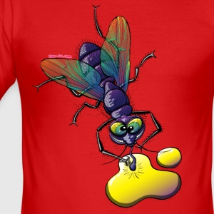 Naughty Smiling Fly T-Shirts - Men's Slim Fit T-Shirt