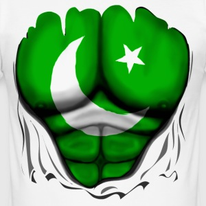 Pakistan Flag Ripped Muscles, six pack, chest t-sh - Men's Slim Fit T-Shirt