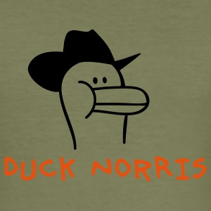 Duck Norris T-shirts - Slim Fit T-shirt herr