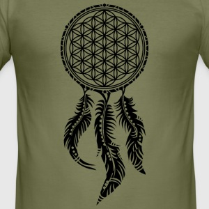 Flower of Life, Dream Catcher Spiritual, Indians T-shirts - slim fit T-shirt