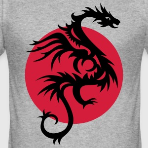 DRAGON SUN | Männershirt slim fit - Männer Slim Fit T-Shirt