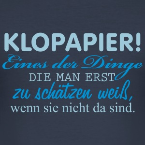 klopapier T-Shirts - Männer Slim Fit T-Shirt