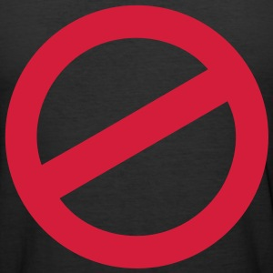 not allowed T-Shirts - Men's Slim Fit T-Shirt