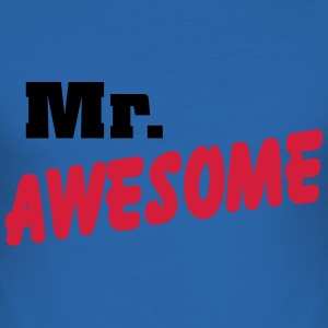 Mr. Awesome T-Shirts - Men's Slim Fit T-Shirt