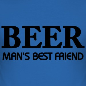 Beer - Man's best friend T-Shirts - Men's Slim Fit T-Shirt