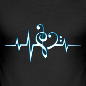 Music, pulse, notes, Trance, Techno, Electro, Goa Camisetas - Camiseta ajustada hombre