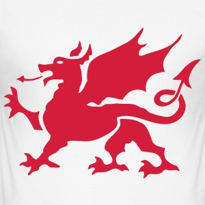 Welsh Dragon - Men's Slim Fit T-Shirt