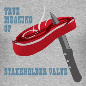 stakeholder value - Männer Slim Fit T-Shirt