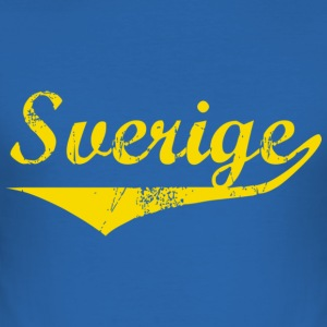 T-shirt Slim fit, Sverige distressed - Slim Fit T-shirt herr