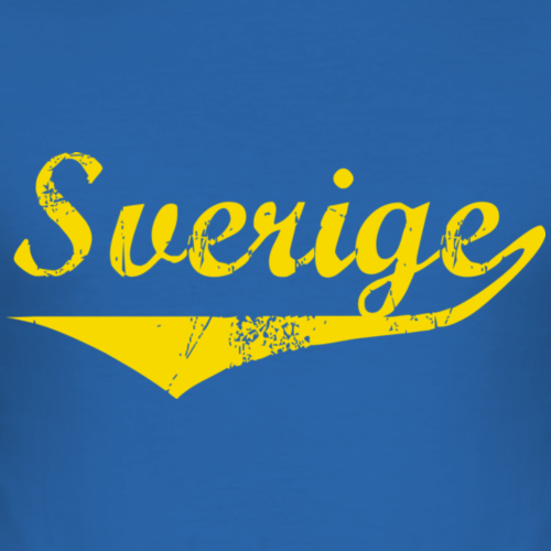 Sverige distressed gul
