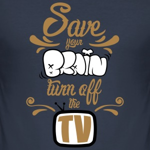 Turn Off The TV Tee shirts - Tee shirt près du corps Homme