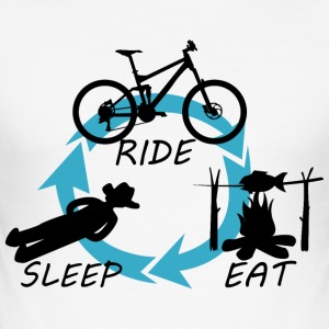 Ride - Eat - Sleep - Männer Slim Fit T-Shirt