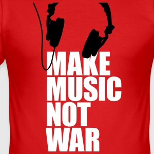 Make music not war (Kopfhörer) T-Shirts - Männer Slim Fit T-Shirt