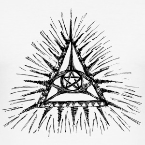 Gods oog, pentagram, magisch symbool T-shirts - slim fit T-shirt