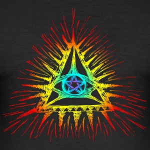 Pentagram, oog van god, symbool alwetendheid T-shirts - slim fit T-shirt