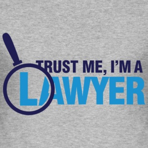 Trust Me Lawyer 2 (dd)++ T-shirts - Herre Slim Fit T-Shirt